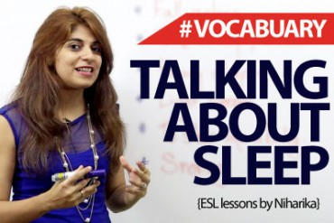 English Phrases to talk about Sleep.
