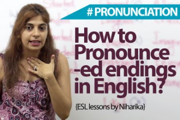 How to pronounce – ed endings in English?