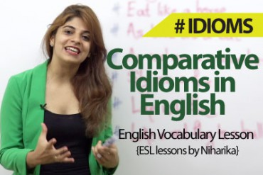 Comparative Idioms in English.