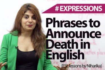English phrases & Expressions to announce death