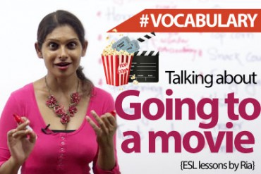 Going to watch a movie – Vocabulary