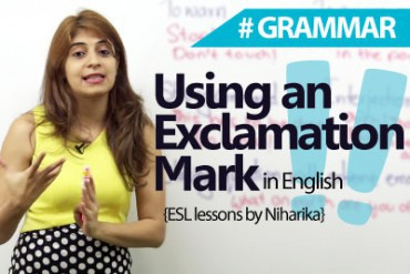 When to use an Exclamation Mark?