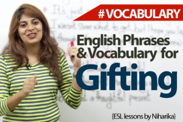 Gifting Vocabulary & Phrases ( ESL)