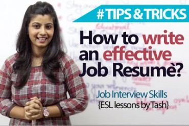 09 tips to write an effective Job resume.