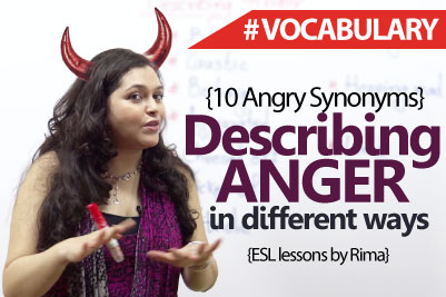 English Lesson to Describe Anger ( Synonyms) - Learn English Vocabulary