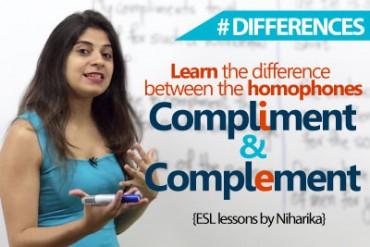 Homophones – Compliment Vs Complement