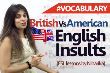 British and American English (Slang) Insults.
