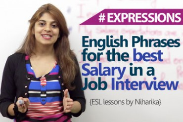 English Phrases to get the best salary in a job interview.
