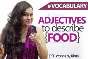 Adjectives to describe food in English.