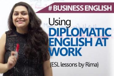 Using Diplomatic English At Work .