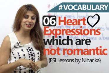 06 Heart expressions in English which are not romantic.