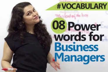 8 Power words for Business Managers.