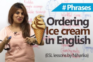 How to order an ice cream in English?