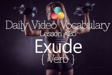English Vocabulary Lesson # 135 – Exude ( Verb)