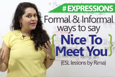 Formal And Informal Ways To Say Nice To Meet You Learnex Free English Lessons