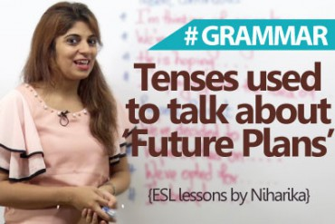 Tenses used to talk about 'Future Plans'  in English.