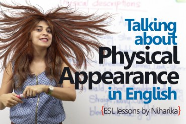 Talking about physical appearance in English.