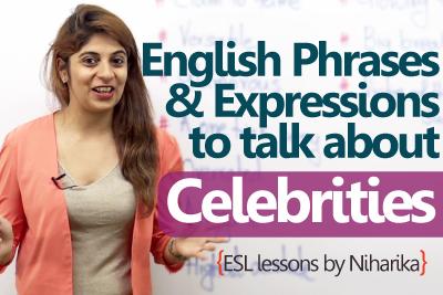 Celebrity english lesson