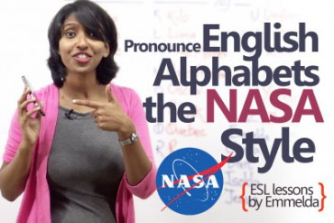 Pronounce English alphabets – The NASA style