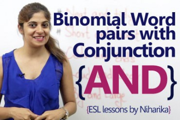 Binomial word pairs with conjunction 'AND'