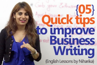 05 quick tips to improve your Business Writing