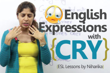 06 English expressions with 'CRY'.