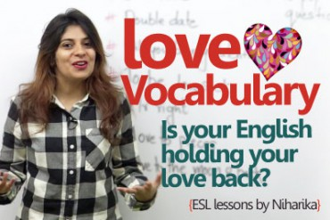 English Lesson – Love vocabulary for Valentine's day