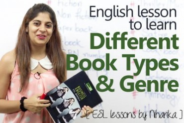 English Lesson – Different book types & genre
