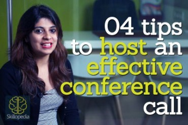 4 tips to host an effective conference call.