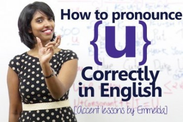 How to pronounce the letter 'u' correctly in English?