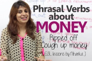 Phrasal verbs about money – English Grammar Lesson