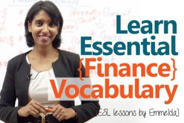 Learn essential finance terms & vocabulary