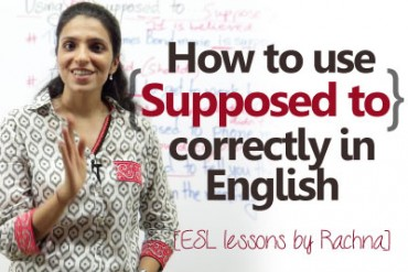 Using 'Supposed to…' correctly in English