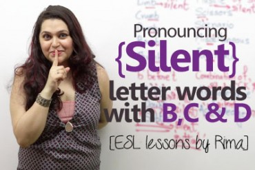 Rules to pronounce Silent letter words with 'B', 'C' & 'D'.