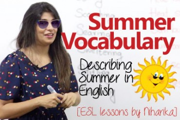 Talking about Summer in English – Summer Vocabulary