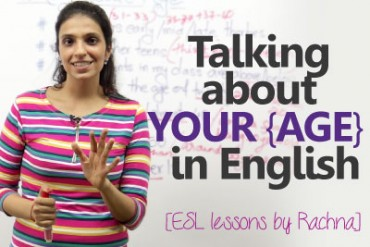 How to talk about your age in English?