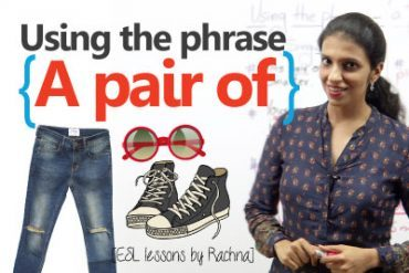 Using the phrase 'A pair of…(something) correctly.