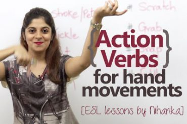 Action Verbs with Hand Movements