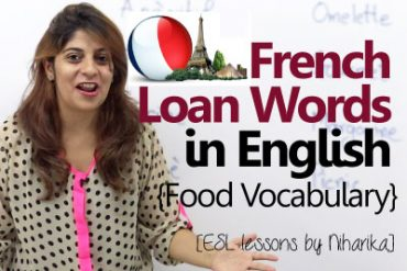 French Loan Words in English related to food.