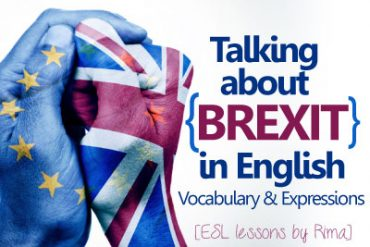 Talking about BREXIT in English .