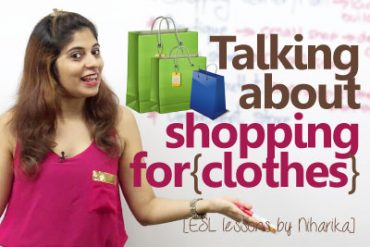 Shopping for Clothes – English lesson