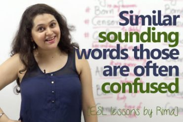 Similar sounding & Commonly confused words in English.