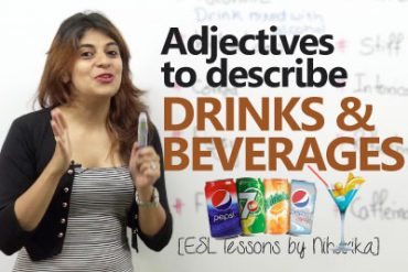 Adjective to describe 'drinks & beverages'