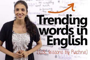 Trending words in English