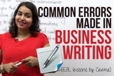 Common errors made in 'Business Emails & Letters'