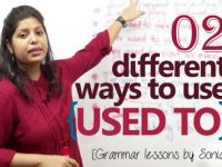 02 different ways to use the auxiliary verb 'Used To' in English conversation