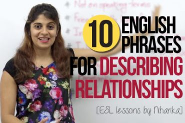 10 English Phrases for Describing Relationships