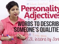Personality Adjectives – Words to describe someone's qualities