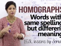 What are HOMOGRAPHS in English?
