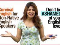 Survival English phrases for non-native English speakers.